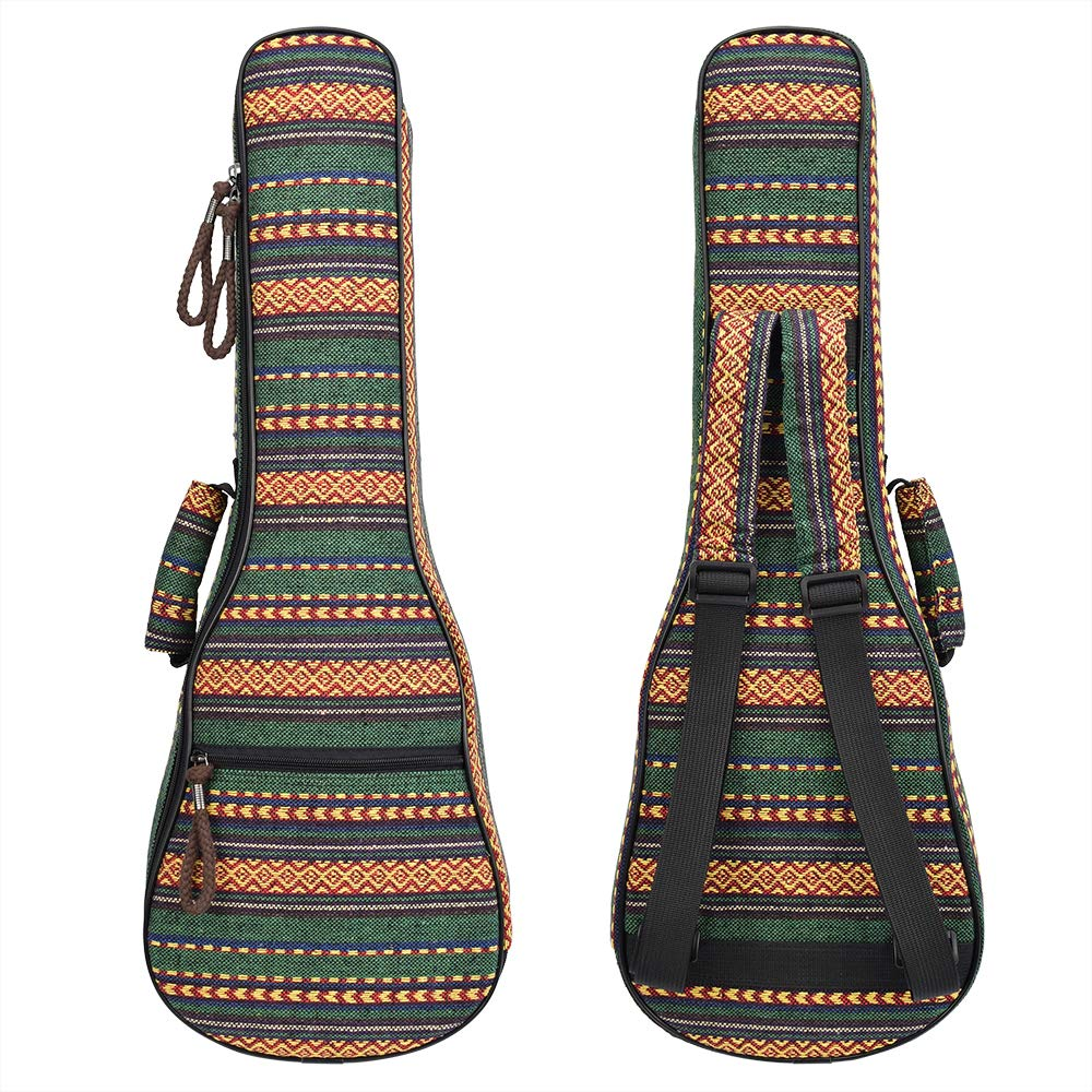 CLOUDMUSIC Ukulele Case Backpack Case National Ethnic Pattern (04,Tenor)