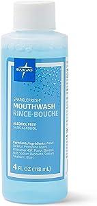 Medline CTR000413 Sparkle Fresh Latex Free Alcohol Free Mouthwash, 4 oz (Pack of 60)