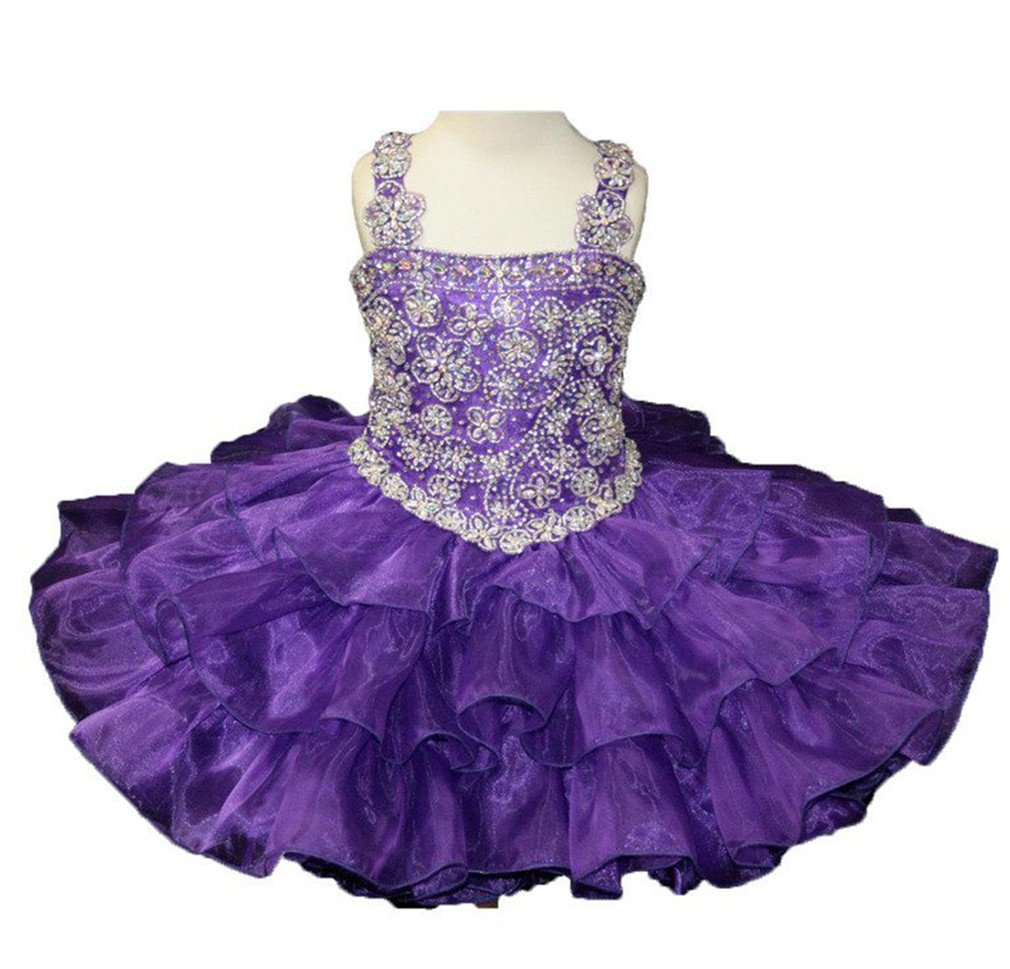 Yang Toddler Girls Mini Cupcakes Glitz Baby Birthday Party Dress for 0-8 Kids 6