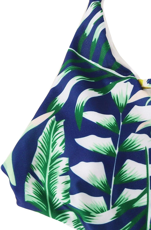 SOLY HUX Mujer Bikini Traje de Ba/ño de Una Pieza Push up Cruzada Cuello Halter Ba/ñadores Ba/ñador Monokini Ropa de Ba/ño 2019