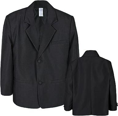 Boy Infant Kid Teen Formal Wedding Party Church Blazer Black Jacket Coat sz S-4T