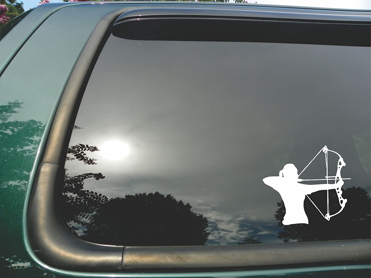 Girl Archer Die Cut Vinyl Window Decal sticker for Car or Truck 5x5