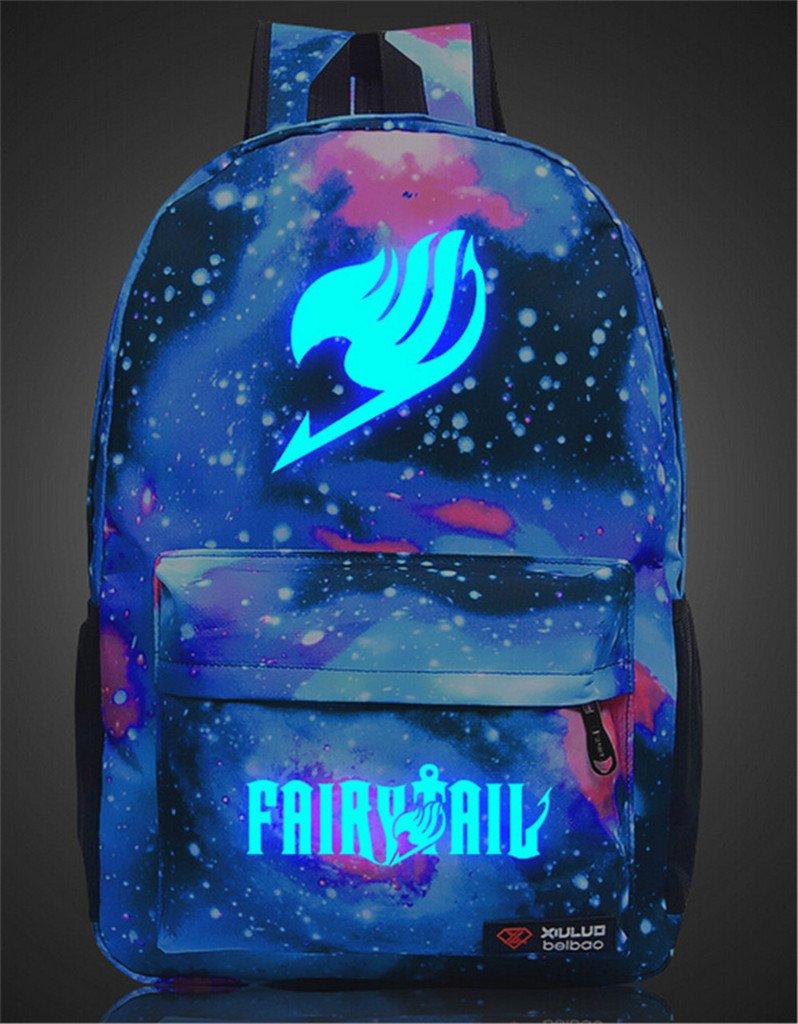 Siawasey Anime Fairy Tail Cosplay Luminous Laptop Bag Bookbag Backpack School Bag
