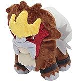 """Pokemon Center Official Nintendo Pokemon Center Plush Stuffed Toy - 6"""" Entei"""
