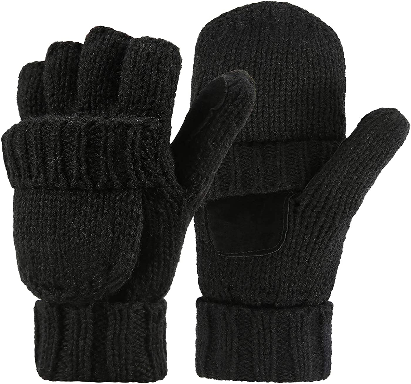 HDE Womens Winter Wool Fingerless Mittens | Warm Convertible Gloves Mitten  Cover at Amazon Women's Clothing store