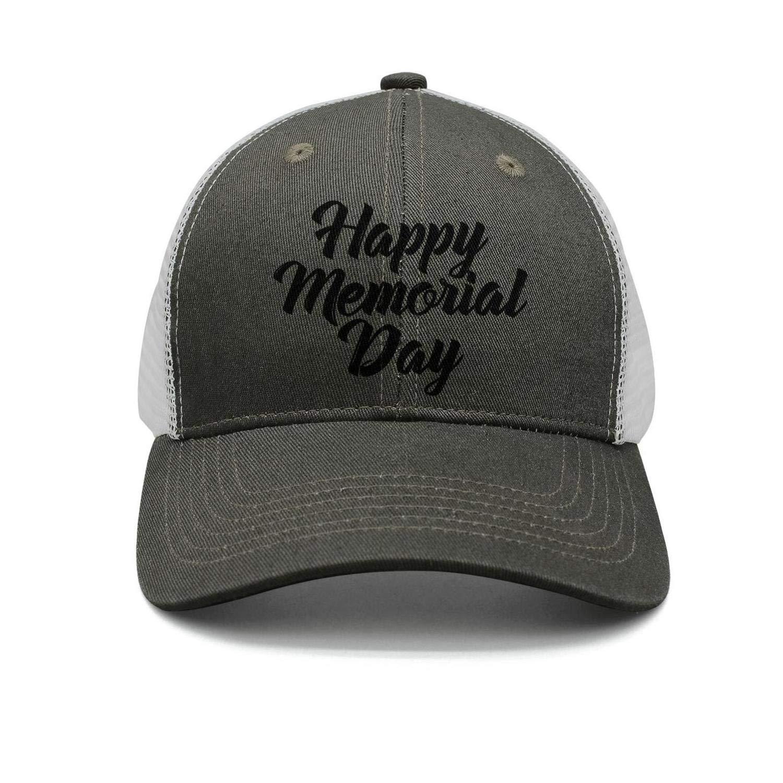TopCrazy Happy Memorial Day Black Letter Print Snapback Hat Men//Women Pattern Sports Hat