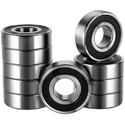 Precision 6203RS Ball Bearing Dual Shielded 17mm ID 40mm OD 12mm Width 6203-2RSJ