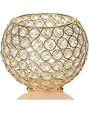 VINCIGANT Oro Cristal Candle Holders Candelabro Titulares de Mesa de Boda Centros de Mesa Té Luz