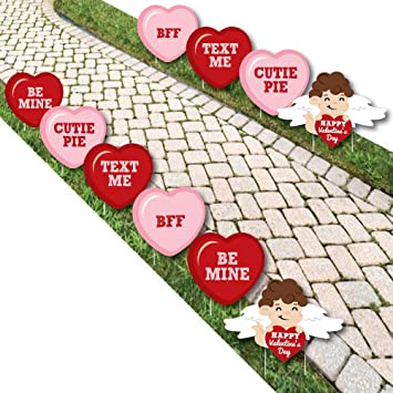 Amazon Com Conversation Hearts Cupid And Heart Lawn Decorations