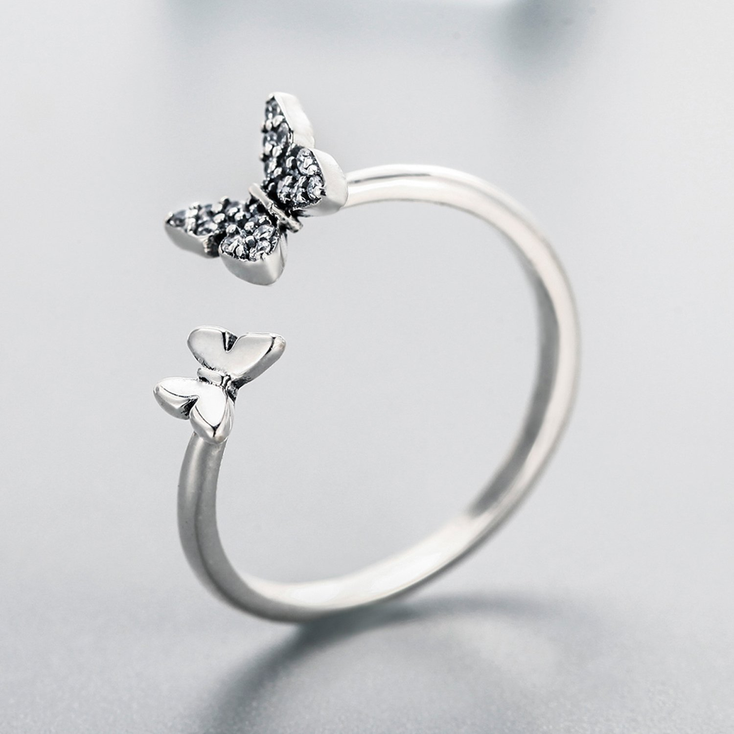 925-Sterling-Silver-Butterfly-White-Birthstone-CZ-Ring-Expandable-Open-Rings-Adjustable-for-Women-Jewelry