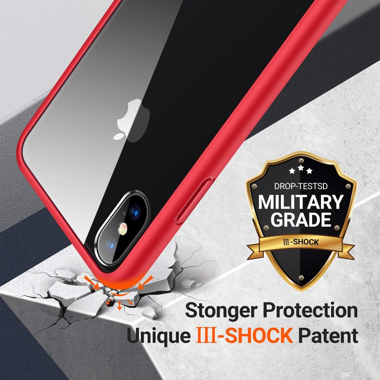 TORRAS HD Hybrid iPhone X H/ülle//iPhone XS H/ülle mit Panzerglas Anti-Gelb /& Voller Schutz Transparent Klar iPhone X//XS Case Hard Back /& Soft Silikon Bumper Hybrid Handyh/ülle f/ür iPhone X//XS