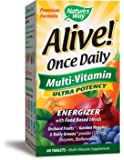 Nature's Way Alive!® Once Daily Adult Multivitamin, Ultra Potency, Food-Based Blends (200mg per serving), 60 Tablets