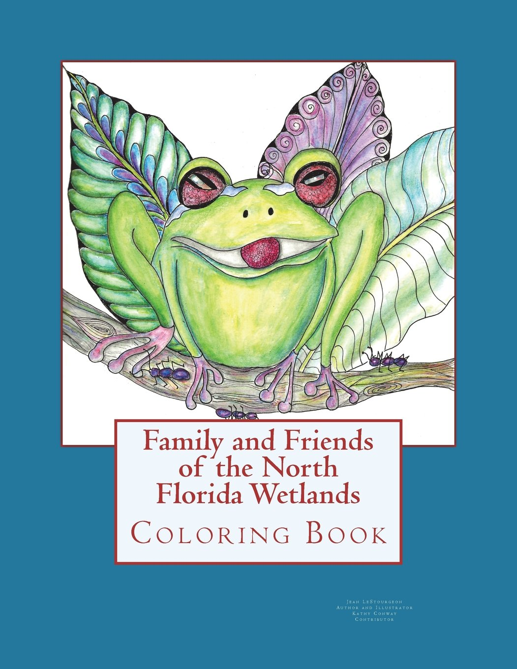 Family and friends of the north florida wetlands wildlife coloring book paperback june 19 2018