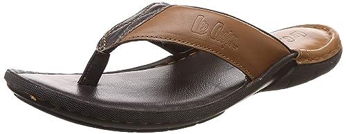 ab38a1fcf81 Lee Cooper Men s Leather Flip Flops Thong Sandals  Buy Online at Low ...
