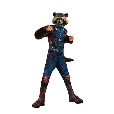 Rubie's Marvel Avengers: Endgame Child's Deluxe Rocket Raccoon Costume & Mask, Small: Toys & Games