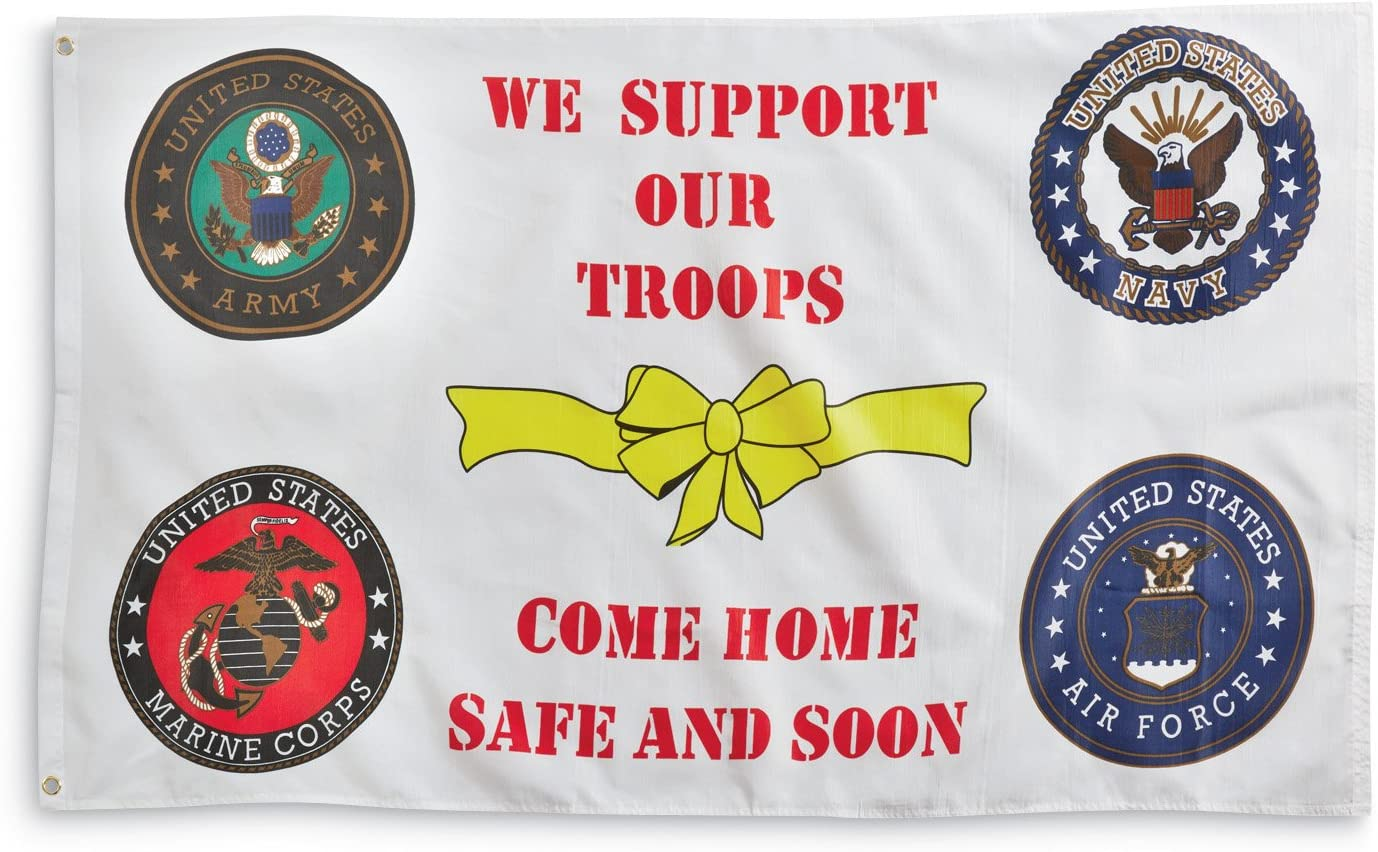 Amazon Com Flag We Support Our Troops Outdoor Usa American Flags Garden Outdoor