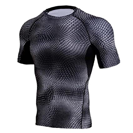 Hot Sale! Mens T-Shirt,Dainzuy Man Casual Snakes Printed Workout Leggings Fitness