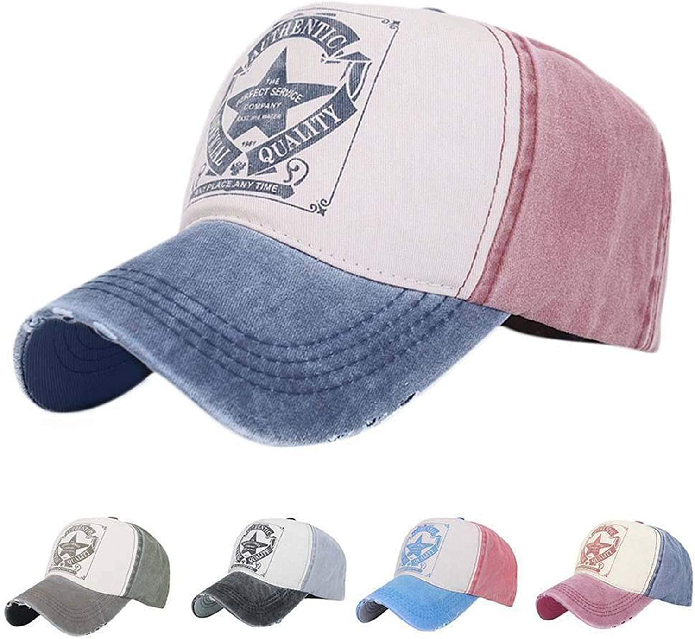 Vintage Baseball Cap Men Women Adjustable Denim Distressed Trucker Hat Unisex 1 pc Fashion Baseball Hat