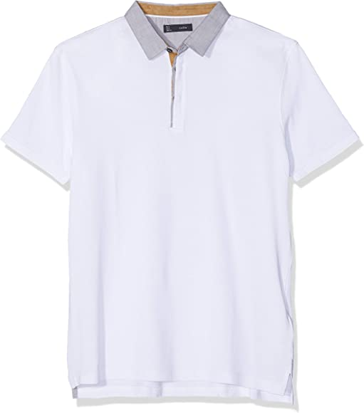Celio Lemimo, Polo para Hombre, Blanco Optical White, X-Large ...