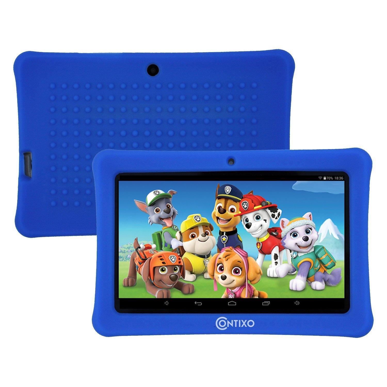 CYBER MONDAY! Contixo Kids Safe 7'' Quad-Core Tablet 8GB, Bluetooth, Wi-Fi, Cameras, Free Games, HD Edition w/ Kids-Place Parental Control, Kid-Proof Case, 2018 LA-703-KIDS-1 (Dark Blue) by Contixo