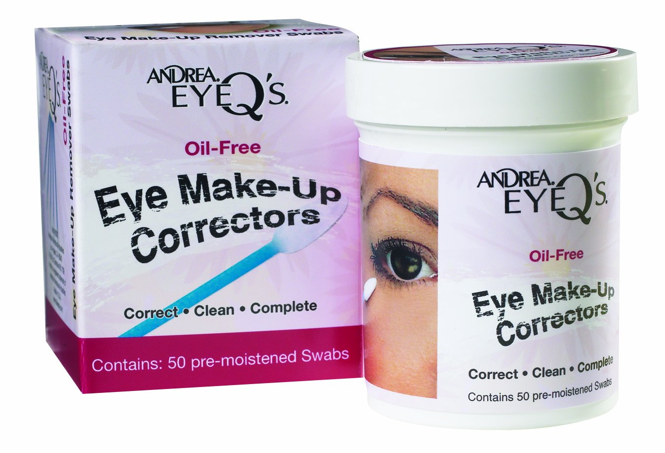 Andrea Eyeq's Oil-free Eye Make-up Correctors Pre-moistened Swabs, 50 Count And-7281