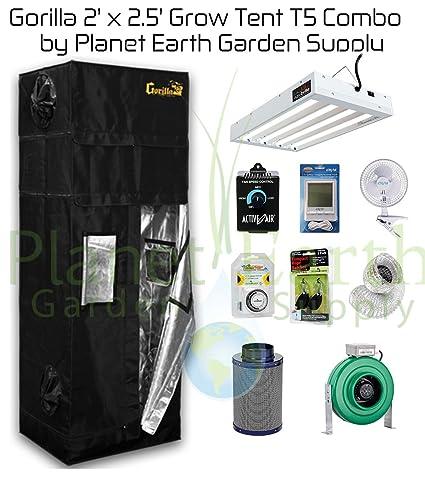 Image Unavailable  sc 1 st  Amazon.com & Amazon.com : 2u0027 x 2.5u0027 Gorilla Grow Tent Kit T5 Combo Package #1 ...