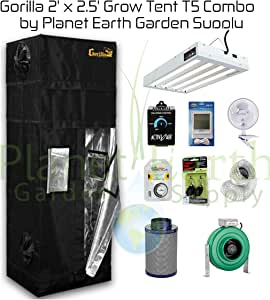 Gorilla Grow Tents 2' x 2.5 Kit T5 Combo Package #1
