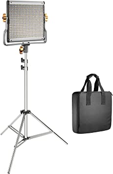 YouTube Video Photography and 75-Inch Light Stand for Photo Studio Portrait Neewer 480 LED Video Light and Stand Lighting Kit 3200-5600K, CRI 96+ Dimmable Bi-Color LED Panel with U Bracket