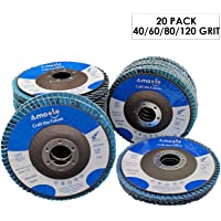 "200 Pack 4.5"" x 7//8/"" Professional 40 Grit Zirconia Flap Disc Grinding Wheels T29"