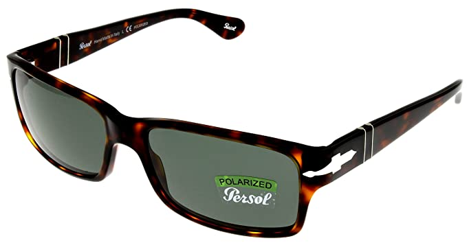 52daece645 Amazon.com  Persol Sunglasses Men Havana Retangular Polarized ...