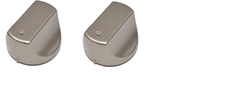 argento, confezione da 2 Manopole di controllo di ricambio Hot-Ari ix per forni e piani cottura Hotpoint
