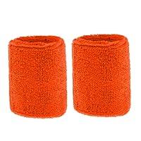 F Fityle Lot de 2 Bandeau Serre-Poignets Bracelet Bande Sudation Éponge Protection pour Tennis Sport Jogging Gym Yoga