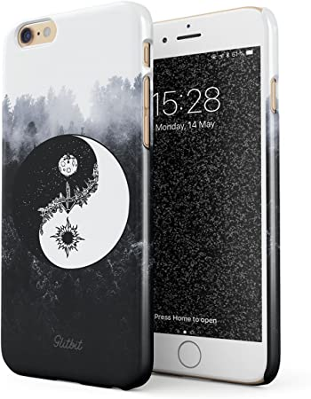 Glitbit Cover per iPhone 6 / 6s Case Yin Yang Mandala Nature Landscape Mountains Forest Tumblr Sottile Guscio Resistente in Plastica Dura Custodia ...