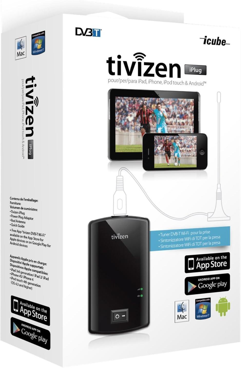 Humax Tivizen Iplug - Sintonizador de televisión Externo (DVB-T, USB), Negro