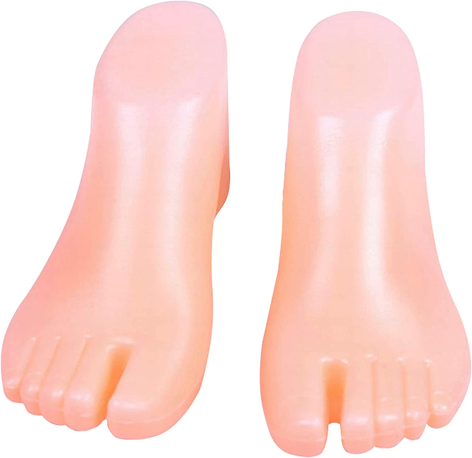 1 Pair Plastic Foot Model Tools for Ankle-High Shoes Display (Fleshtone) 71KtfEjzZ1L