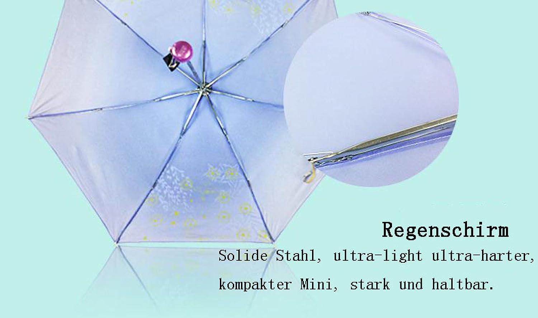 LGZOOT Simple Paraguas Lluvia O Sol De Doble Uso Paraguas Plegable Pantalla 339s Sombrilla Viajes Paraguas Paraguas 2,Purple: Amazon.es: Hogar