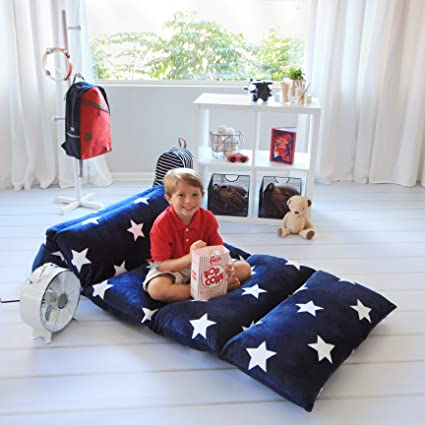 Excellent Butterfly Craze Kids Floor Pillow Fold Out Lounger Fabric Cover For Bed And Game Rooms Reading Beanbag Ottoman Recliner Chair Couch Alternative Gmtry Best Dining Table And Chair Ideas Images Gmtryco