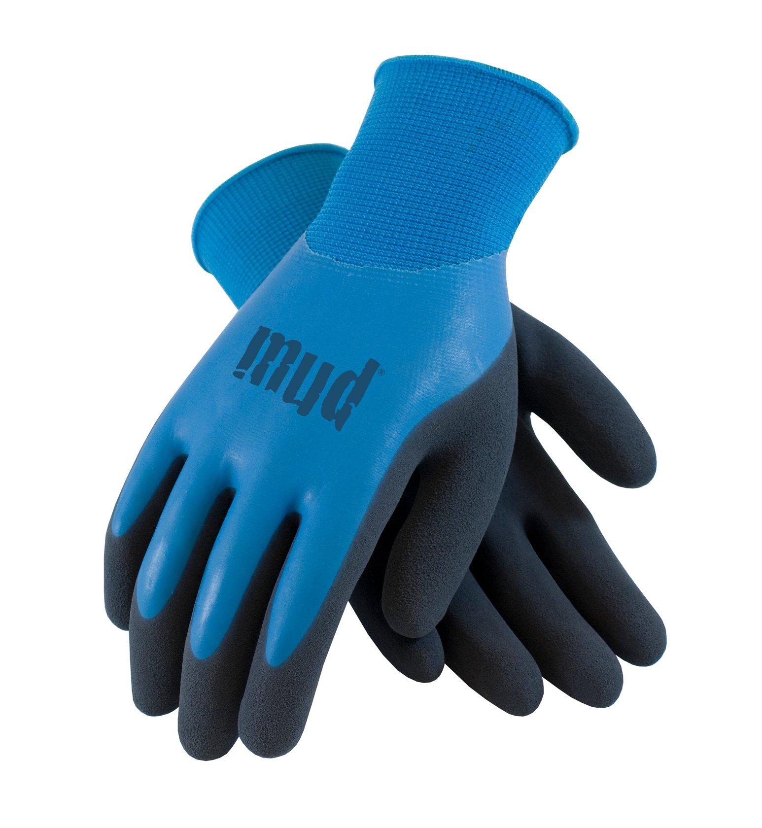 MUD 027B/L Mud H2O Garden Glove, Large, Blue Azure