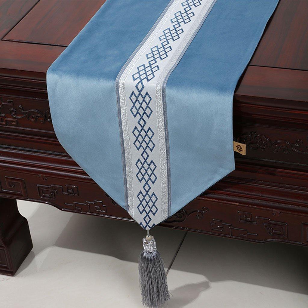 Caminos de mesa de alta calidad 100% poliéster simple corredor de la mesa gris azul suave delicado clásico mesa de comedor mantel de café paño de la sala de estar restaurante de la cocina del  caliente el decoración del hogar