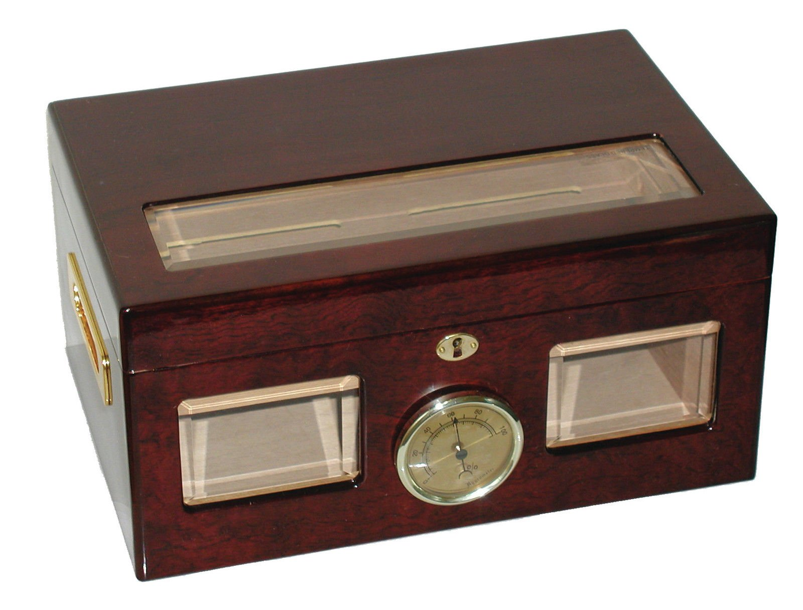 Glass Top Cigar Humidors Cuban Crafters Bravo Humidor for 120 Cigars