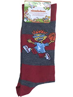 Nickelodeon Otto from Rocket Power Socks,Red Gray,10-13