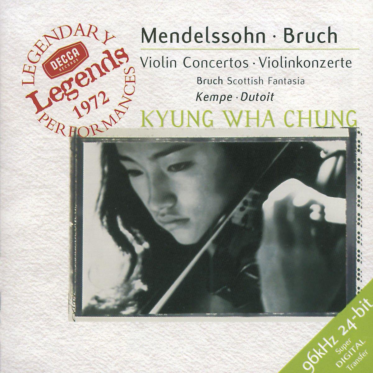 Mendelssohn, Bruch: Violin Concertos by CHUNG/DUTOIT/KEMPE