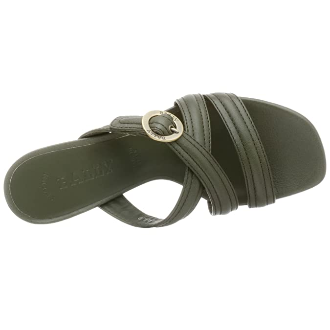 99f68a6db278d Amazon.com: BALLY Women's Castine Slide,Jade,6 M: Shoes