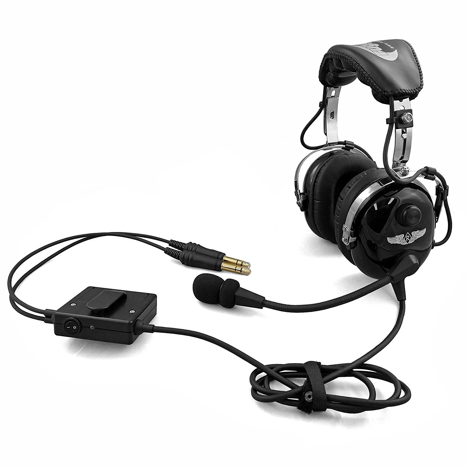 Amazon.com: Rugged Air RA950 Stereo General Aviation Pilot Headset with  Active Noise Reduction: GPS & Navigation