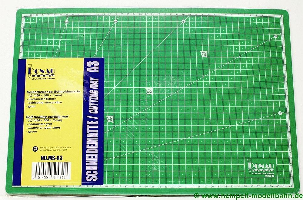 450 x 300 x 3 mm Unbekannt Donau Elektronik Schneidematte A3