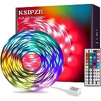 LED Strip 7,5 m RGB LED ljuskedja remsor ljus med fjärrkontroll LED belysning list band för skåp deko, party, hem…