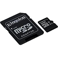 Kingston Canvas Select 16GB Class 10 MicroSDHC Memory Card with Adapter (SDCS/16GBIN)