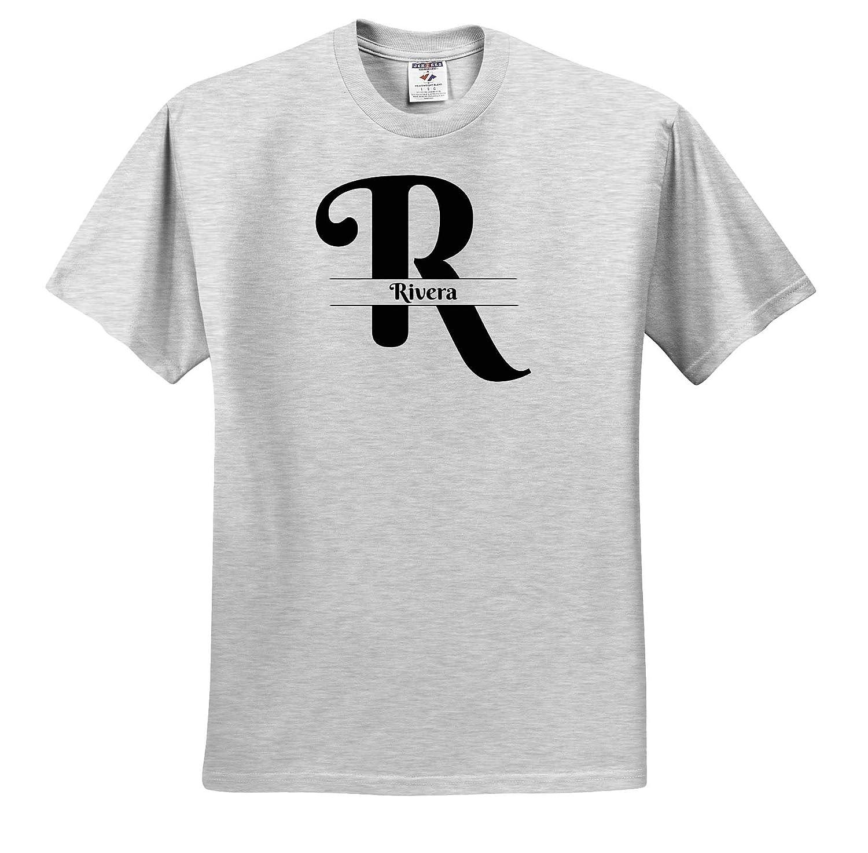 3dRose BrooklynMeme Monograms Rivera T-Shirts Bold Script Monogram R