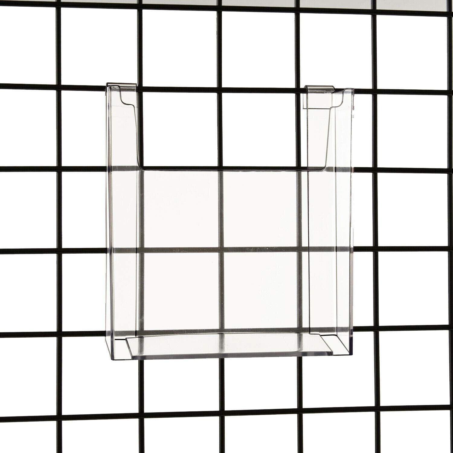 Gridwall 8.5'' x 11'' Clear Acrylic Literature, Brochure & Magazine Holder, 5 Pack