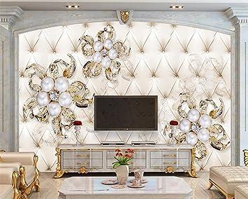 Wapel Diamond Pearl Flower Soft Bag Hintergrund 3D Tapete ...